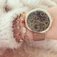 Ceas dama Geneva Classic Fashion auriu metalic