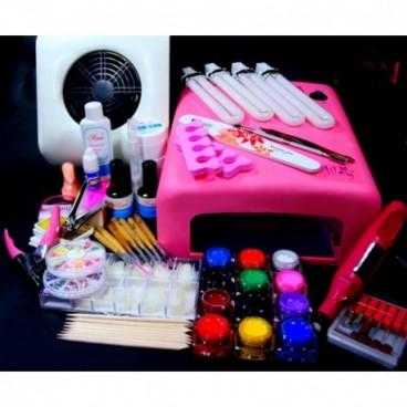 Kit profesional de manichiura pentru constructii unghii cu gel