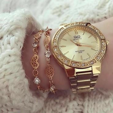 Ceas de dama Elegance Gold metalic