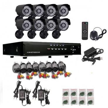 Sistem DVR cu 8 camere pentru interior sau exterior