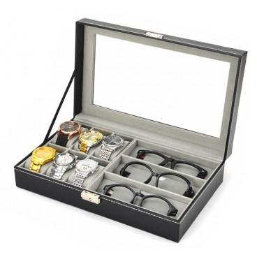 Cutie pentru depozitare ceasurilor si ochelari 2in1