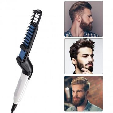 Perie electrica multifunctionala de indreptat parul si barba
